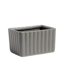 Aufbewahrungsbox Container aus Keramik von Nordal grau 6x7x10 cm